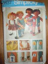 Vintage Simplicity Set Of Rag Dolls  #9137  - $5.99