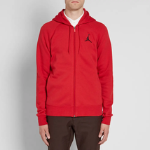 Nike Men's Jordan Flight Fleece FZ Hoodie  NEW AUTHENTIC Red 823064-687 ... - $49.49