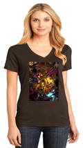 Marvel VS Capcom District Made Ladies Perfect Weight V-Neck T-Shirt Size XS-4XL - $19.99+