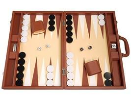 19-inch Premium Backgammon Set - Large Size - Desert Brown Board - $157.41