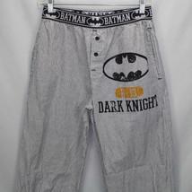 Batman Dark Knight Pajama Pants Mens Small Black and White Striped All Cotton - $18.80