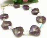 Charoite purple gemstone swarovski ab crystal bracelet 7 5 inch e096ec9a 1  thumb155 crop
