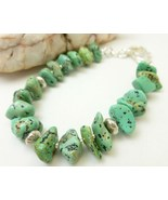 Kingman Green Blue Turquoise Nugget Sterling Si... - $36.00