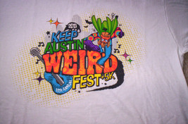 11th Festival 2013 Keep Austin Tx Weird Graphic T Shirt Bats Hippie Super Hero - $15.00