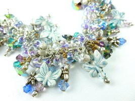 Butterfly and dragonfly crystal sterling charm beaded bracelet small 3199a47a 1  thumb200