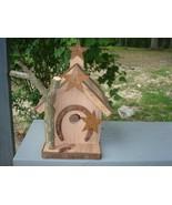 Handcrafted Birdhouse Horseshoe rusty stars Unique garden - $48.00