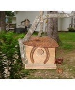 Handcrafted Birdhouse old rusty shovel unique garden - $55.00