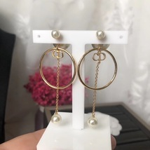 Authentic Christian Dior 2019 Tribales Double Pearl Dangle Drop Long EARRINGS image 12