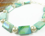 Turquoise mother of pearl and white ankle bracelet square round 9 inch 64f1ebdb 1  thumb155 crop