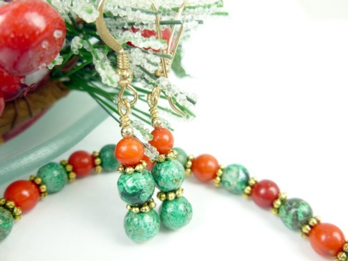 Green_chrysocolla_red_coral_beaded_christmas_holiday_bracelet_earring_5439a6d7_1_