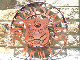 United States ARMY Sign Plasma Metal Art 22 inches 0629 bz - $134.98