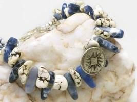 Natural howlite nugget southwest sterling beaded bracelet earring set 555711cc 1  thumb200
