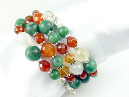 Jade_carnelian_orange_green_gemstone_sterling_beaded_coil_bracelet_f4a77b71_1_