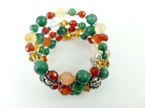 Jade_carnelian_orange_green_gemstone_sterling_beaded_coil_bracelet_adaaf1ca_1_