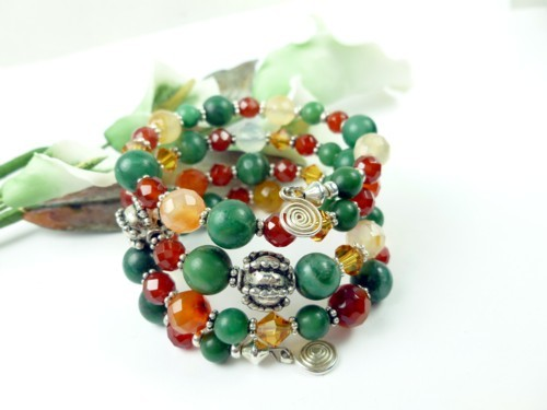 Jade_carnelian_orange_green_gemstone_sterling_beaded_coil_bracelet_10a70b2c_1_