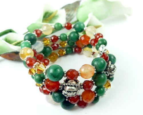 Jade_carnelian_orange_green_gemstone_sterling_beaded_coil_bracelet_46f5cde0_1_