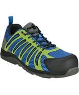 Men's Nautilus Composite Toe, EH, Slip Res, Triple Cushion in Blue/Green... - $87.99