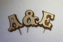 Wedding Cake Topper Initial Accessory Monogram Birthday Cake Decoration - $6.74