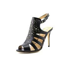 L.K. Bennett Salinas Womens Black Leather Peep Toe Pumps Heels Shoes 8 4... - $159.99