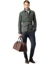 Reiss Crabtree Men's Blue Petrol Lined Belted Field Jacket Coat XL - $199.99
