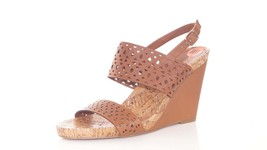 BCBG Generation Brodee Womens Tan Vachetta Platforms Wedges Sandals Shoe... - $35.99