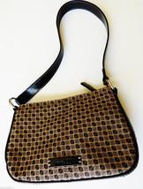 NINE & CO Brown Checker Pattern Signature Canvas Mini Shoulder  Strap Purse - $17.82