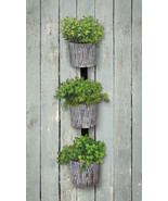 3-planter Wall Garden - Wood Grain - $39.53