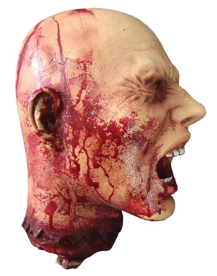 Ripped Off Head Halloween Prop Scary Creepy 85007 Haunted House Decoration