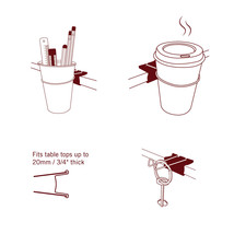 Office Gifts Cup Funky Stand Display Desing Hot Tee Coffee Clip Multifun... - €11,07 EUR