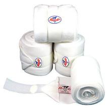 White Professional Choice Tack Horse Leg Pile Fleece Polo Wrap Set Of 4 ... - $35.63