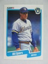 Bill Spiers Milwaukee Brewers 1990 Fleer Baseball Card 337 - $0.98