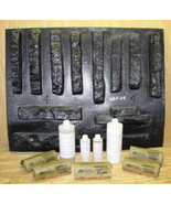 #ODF-04K Drystack Flat Faced Stone Veneer Supply Kit Molds (12) Make Roc... - $219.99