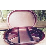Tupperware Cranberry Deluxe Acrylic Divided Serving Tray Preludio Hors D... - $25.73