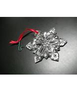 Mikasa Crystal Snowflake Christmas Ornament Made In Germany Original Mik... - $19.99