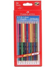 FC-140-BI12 Faber-castell Dual Sided Bi - Colour Pencils in Hexagonal Shape (... - $7.91