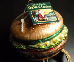 Merck Family's Old World Christmas Ornament 2005 Cheeseburger Glass and Glitter - $10.99