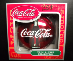 Coca Cola Christmas Ornament Red Disk Ornaments Series Santa's Slippers ... - $8.99