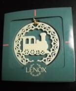 Lenox Christmas Ornament Yuletide Loco Pierced Porcelian with Gold Cord Boxed - $8.99