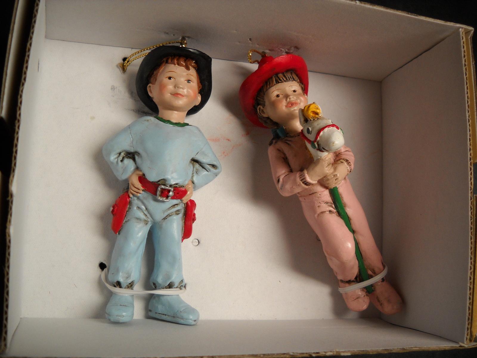 Kurt S Adler Christmas Ornament Dillard's Trimmings Cowboy Kids in Pajamas Boxed