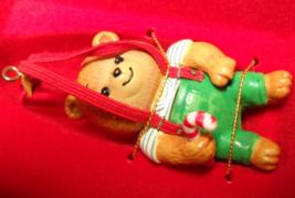 Enesco Christmas Ornament 1987 Teddy's Suspenders M Gilmore Designs Orig... - $12.99