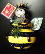 Figi Christmas Ornament 2002 All That Glitters Large Glass Bee Ornament ... - $12.99