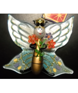 Figi Christmas Ornament 2002 All That Glitters Large Glass Butterfly Boxed - $14.99