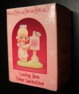 Enesco Precious Moments Collection 1989 Loving You Dear Valentine Girl A... - $7.99