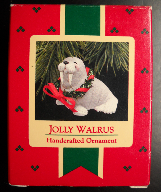 Primary image for Hallmark Keepsake Christmas Ornament 1988 Jolly Walrus Original Presenation Box