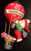 Carlton Cards Heirloom Christmas Ornament 1993 Airmail Delivery Bear in Balloon - $12.99