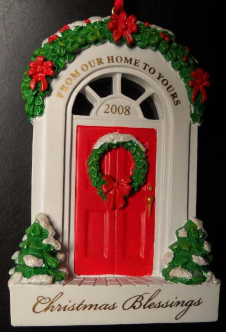 Primary image for Dayspring Christmas Ornament 2008 From Our House To Yours Arched Doorway Boxed