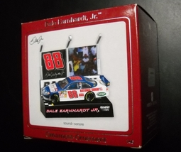 Carlton Cards Christmas Ornament Dale Earnhardt Jr Nascar Sound Original Box - $16.99