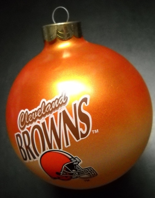 Primary image for Topperscot Christmas Ornament Cleveland Browns NFL Football Glass Bulb Boxed
