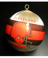 INA Creations Christmas Ornament Cleveland Browns NFL Satin Higbee's Boxed - $9.99