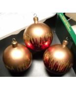 Navistar Christmas Ornaments Set of Three Hand Decorated Shatterproof Ar... - $12.99